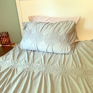 Completely dorm bed and bath!